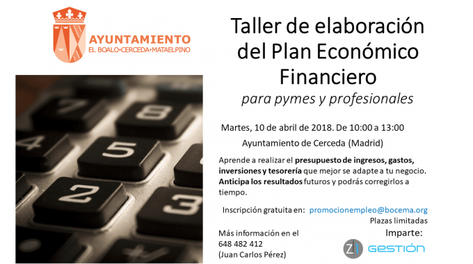 Próximos Talleres De Elaboración Del Plan Económico Financiero