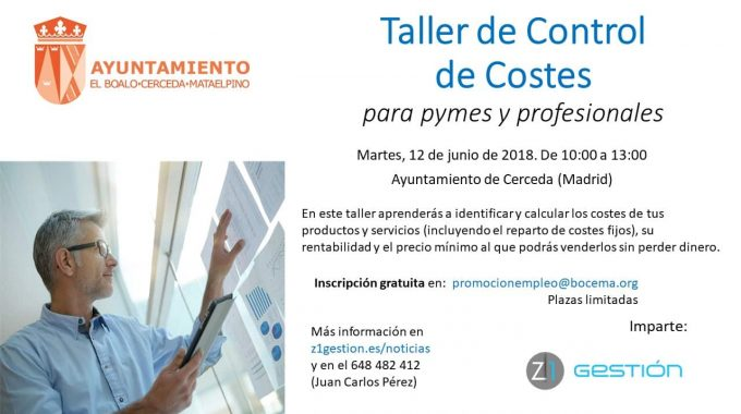 Taller De Control De Costes Junio 2018