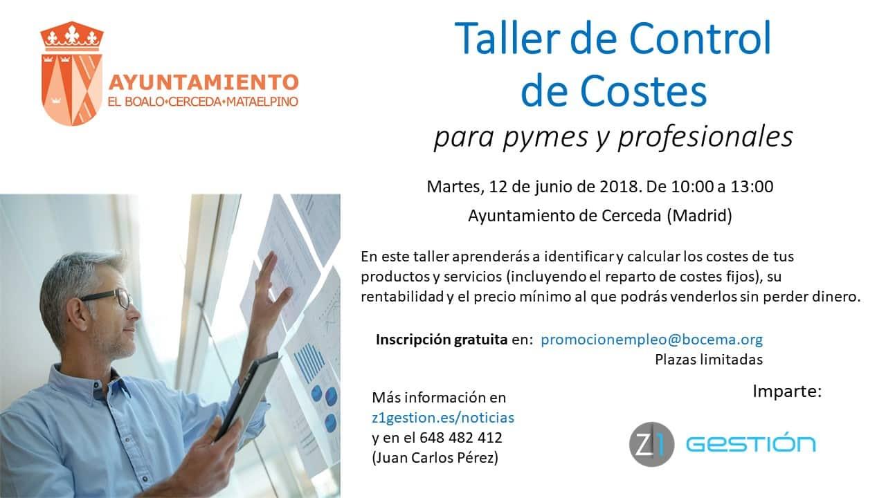 Taller Control De Costes - Z1 Gestión